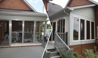 before and after sunroom conversion