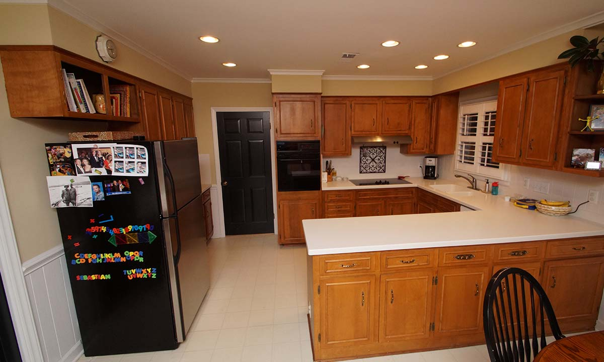 before image of a kitchen remodel