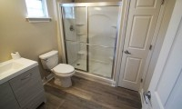 finished bathroom in guest house