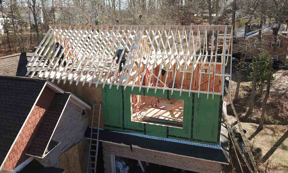 home addition beginning stages