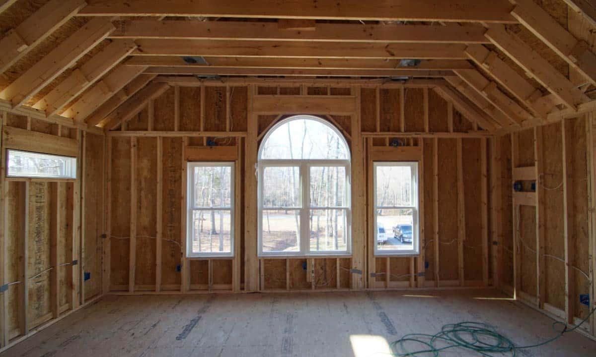 beginning photo of second floor home addition