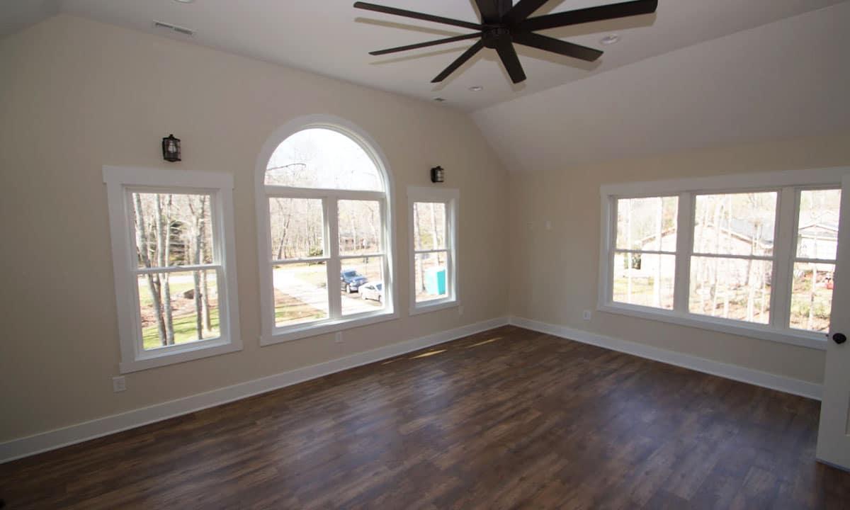 vinyl floor finished home addition