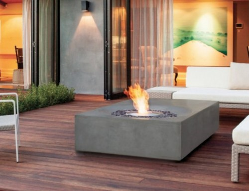 Outdoor fireplaces get a green makeover