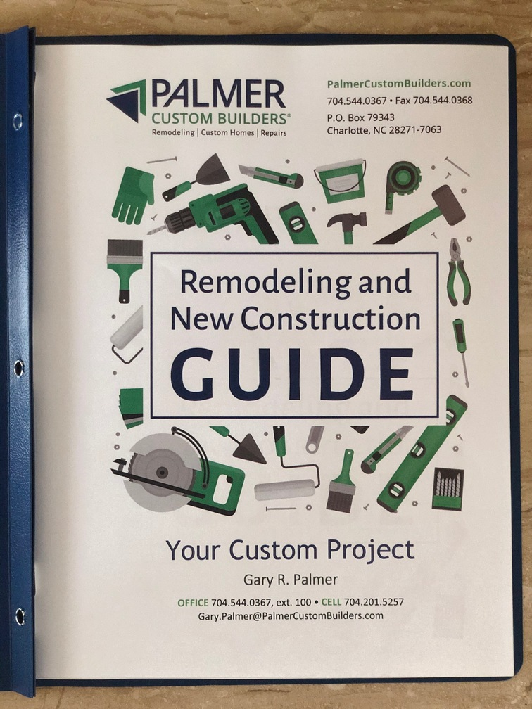 Cover page of the remodeling and new construction guide by palmer custom builders