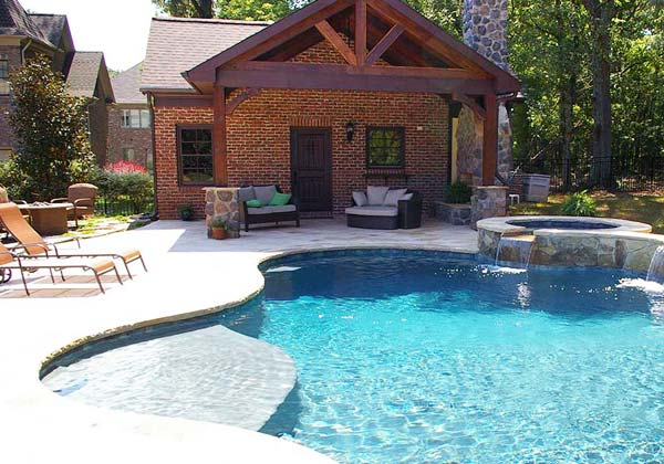 Waxhaw pool house