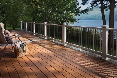 back deck made of engineered wood