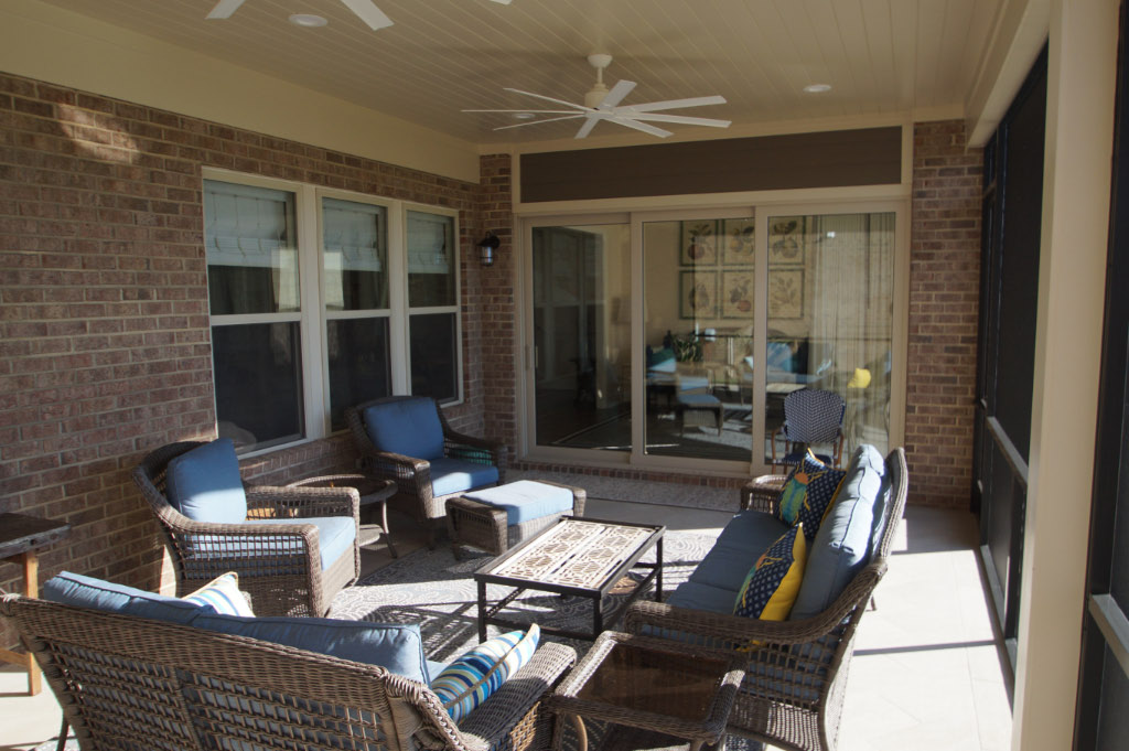 after photo of screened in porch