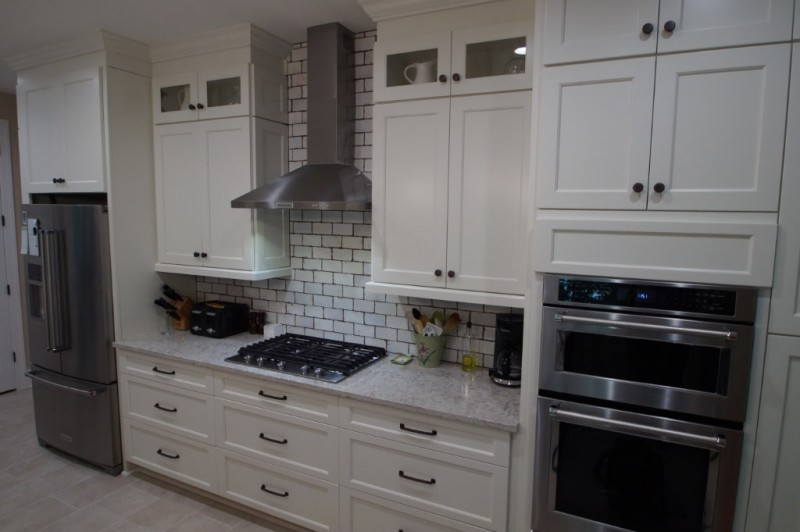 Charlotte renovation project - kitchen with white cabinets