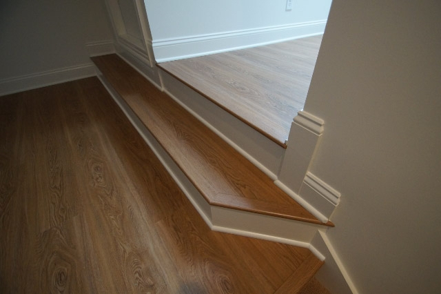 hardwood flooring with steps