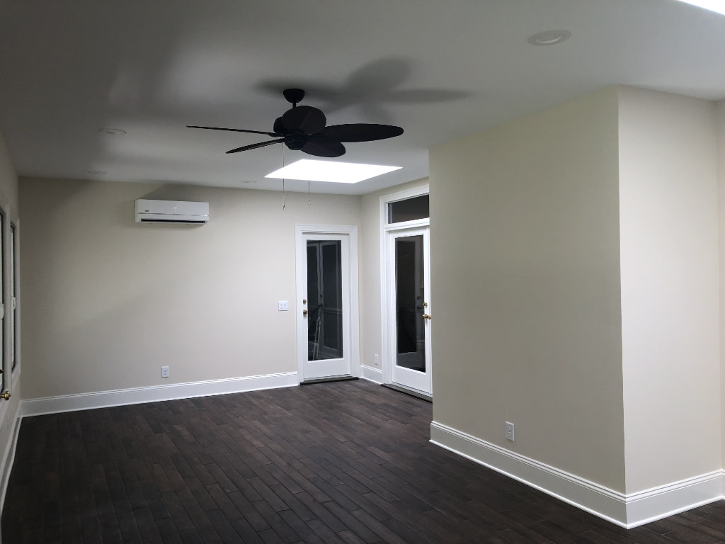 new sunroom interior hallway