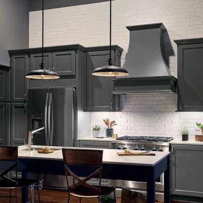 lighting fixtures over kitchen island