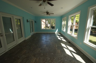 after photo of screened porch conversion to a sunroom