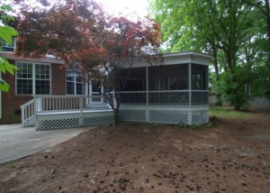 exterior after photo of screened prch addition