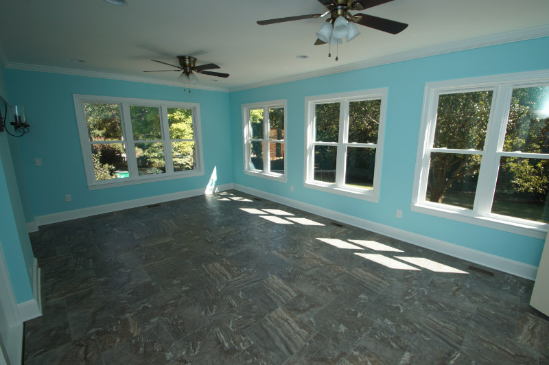 after screened porch conversion