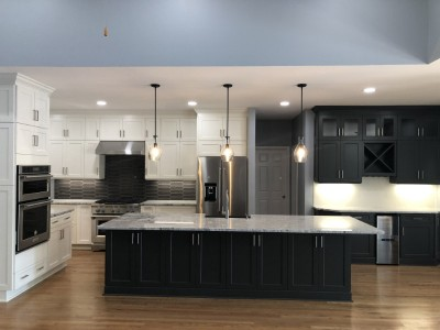 Charlotte kitchen remodel with black island